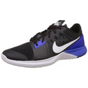 Nike Men's Fs Lite Trainer 3 Black, Blue and White Running Shoes - 8 UK/India (42.5 EU)(9 US)