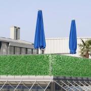 [neu.haus]® Valla de hojas artificiales (100 x 300 cm) PVC Protector visual y contra el viento