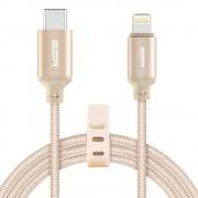 ESR USB C naar Lightning kabel 1 meter Goud