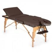 MT 500 Lettino da Massaggio 210 cm 200 kgPieghevole Schiuma A Celle Chiuse Borsone Marrone