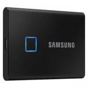 Твърд диск Samsung SSD T7 Touch 500 GB Portable, USB 3.2, Fingerprint, Read 1050 MB/s Write 1000 MB/s, Black, MU-PC500K/WW