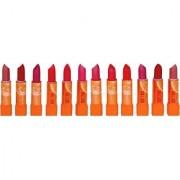 ADS Vitamins 'C' based lipstick multicolor set of 12 (Multicolor)