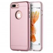 Funda Case Para IPhone 7 Plus / IPhone 8 Plus Protector Doble De Uso Rudo-Rose Gold