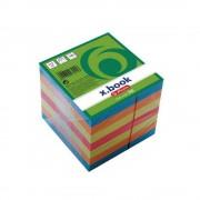 Cub din hartie color lipit lateral 9x9cm 80g/mp, 700 file/set, HERLITZ