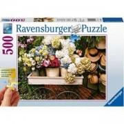 Пъзел Ravensburger 500 елемента, Цветя и шапки, 7013654