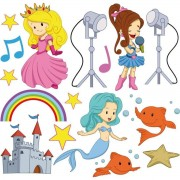 Miliboo Stickers fille 30x30cm