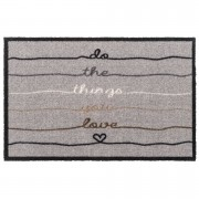 Mat Do the things you love - taupe - 50x75 cm - Leen Bakker