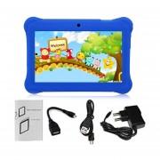 Q88 AU Plug Niños Tablet Con Pantalla Táctil De 7 Pulgadas, 512 MB De +8GB Kid Pad Con Altavoz Azul Oscuro