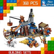 AlanWhale Medieval Lion Royal Knights Dwarf Blacksmith Human VS Night Elf Enlighten Building Kit 2314 (368 Piece)