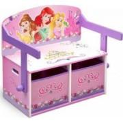 Mobilier 2 in 1 pentru depozitare jucarii Disney Princess