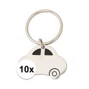 Geen 10x Nieuwe auto sleutelhangers
