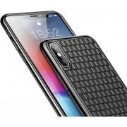 Funda Celular Case Baseus Tipo Piel Tejida Iphone XS MAX XR X