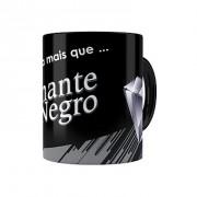 Caneca Porcelana Chocolate Diamante Negro Mensagem Preta