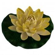 Max Plastový leknín velký žlutý - Leknínový květ velký 18 cm
