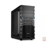 "Sharkoon VG4-V, no PSU, 3x5.25"", 3x3.5"", 4x2.5"", USB2.0, ATX Midi Tower"