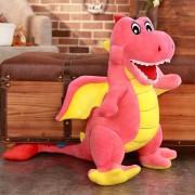 Jucarie din plus, Toys, Dragonel cel fioros, Roz, 50 cm