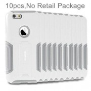 10 PCS HAWEEL for iPhone 6 Plus & 6s Plus Dual Layer TPU Plastic Combo Case with Kickstand No Retail Package(White)