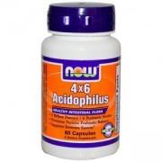 Пробиотик Acidophilus 4x6 - 60 капсули, NOW FOODS, NF2920