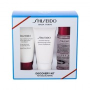 Shiseido Essential Energy confezione regalo crema idratante viso 30 ml + mousse detergente Clarifying Cleansing Foam 30 ml + tonico Treatment Softener 30 ml