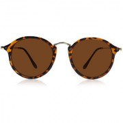 Ivy Vacker Brown Tiger Print Oval Sunglass for Men