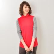 KiKKi 配色ハイネックインナー【QVC】40代・50代レディースファッション
