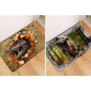 Beijing Jianshuaizhilong Commerce and Trading Co Ltd T/A MBLogic £7.99 instead of £39.99 for a 3D dinosaur print floor mat, choose from six styles from My Brand Logic – save 80%