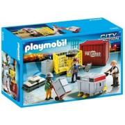 Playmobil Cargo Loading Team + Playmobil Loading Terminal by BigBrand