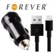 Incarcator auto Forever universal negru 1A USB + Cablu Apple iPhone 5/5C/5S