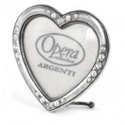 mini cornice cuore in argento con strass - opera collection