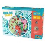 Puzzle cu ceas Ora de joaca - Dinozauri, 100 piese