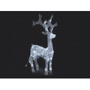 40 LEDes világító szarvas 80 cm