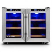 Klarstein RESERVA SALOON хладилник за бира вино12 бутилки 40 литра неръждаема стомана LED (HEA3-Reserva-Saloon-)