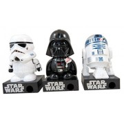 Star Wars Stormtrooper Darth Vader and R2D2 Talking Dispenser Action Figure, Pack of 6