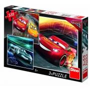 PUZZLE 3 IN 1 - CARS (3 X 55 PIESE) - DINO TOYS (335196)