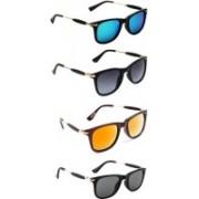 Ultra Digits Wayfarer Sunglasses(Blue, Grey, Orange, Black)