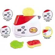 Electronic Pop-Up Toaster Toy Pretend Play Set for Kids
