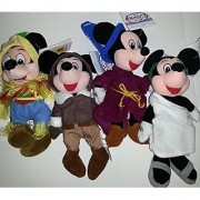 Mickey Mouse Bean Bags Approx. 10 Tall Each Lot of 4
