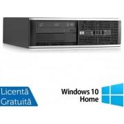 Sistem PC Refurbished HP Compaq 6000 Pro SFF (Procesor Intel® Pentium® E5800 (2M Cache, up to 3.20 GHz), Wolfdale, 2GB, 160GB HDD, Intel® GMA, Win10 Home, Negru)