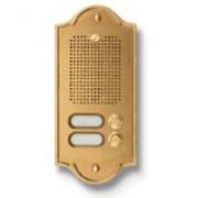> Pulsantiera citofonica 2 pulsanti in ottone PLM PERLA