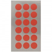 Merkloos 144x Rode ronde sticker etiketten 15 mm