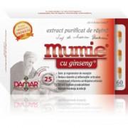 Extract purificat de rasina mumie cu ginseng-capsule 60cps DAMAR