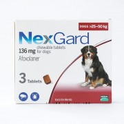 NexGard Chews For Large Dogs 25-50kg (60.1-121lbs), 3 Pack