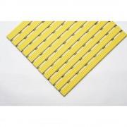 Kunststof mat, per str. mtr., loopvlak van harde kunststof, antislip