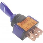 Intrerupator auto cu maneta si iluminare tip ASW-13D 20, 20 A, 12 V/DC, 1 x ON/OFF, albastru