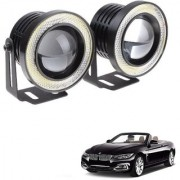Auto Addict 3.5 High Power Led Projector Fog Light Cob with White Angel Eye Ring 15W Set of 2 For BMW 4 Series