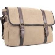 Fossil Men Brown Cotton Shoulder Bag