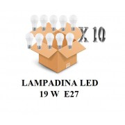 SHOT Confezione 10 Pezzi Lampadina Led Attacco E27 20w Di Consumo Resa 150w Forma Goccia Opale