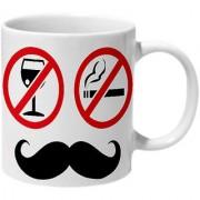 Mooch Wale No Smoking No Drinking Just Mooching Ceramic Mug