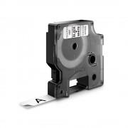 Etichete autocolante DYMO LabelManager D1 nailon flexibil 12mm x 3.5m negru alb 16957 S0718040 S0718050