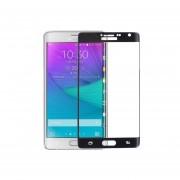 Pixnor Curvado De Teléfono Móvil Con Cobertura Total 9H Dureza Vidrio Templado Protector De Pantalla Para Samsung Galaxy Note Edge (Negro)